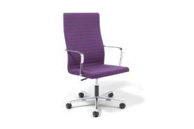 fauteuil de bureau violet à roulettes