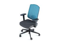 fauteuil de bureau bleu professionnel à roulettes