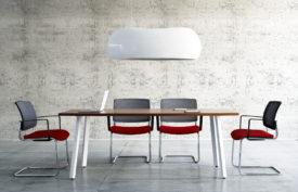 chaise visiteur rouge bureau professionnel